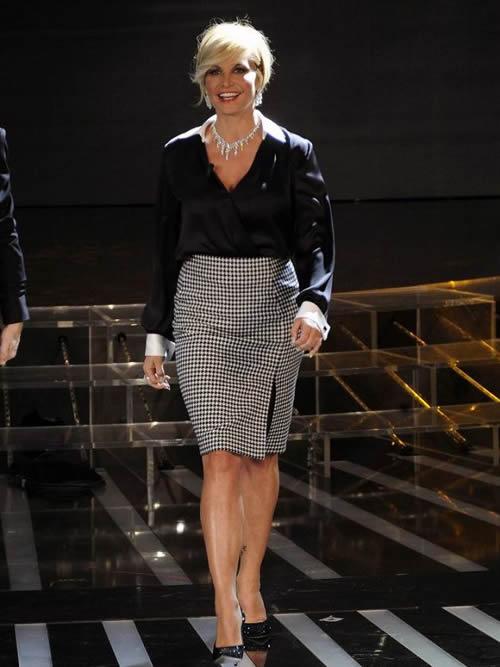 Simona Ventura in Salvatore Ferragamo per X-Factor 5