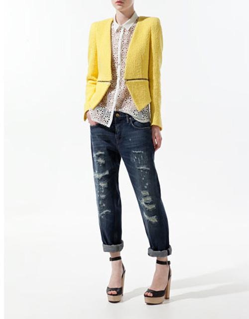 Look Un Sandali Zara BlazerJeans E Originale Di Comodo Per Nmnvw08