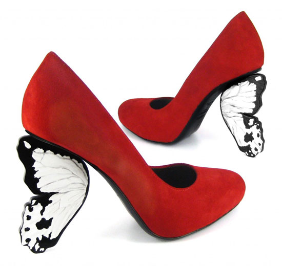 Scarpe Tacco Farfalla
