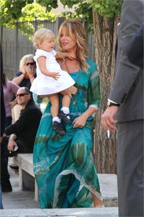 Facchinetti Mia elegante Alessia Marcuzzi al battesimo della piccola Cfw0wFzvxq