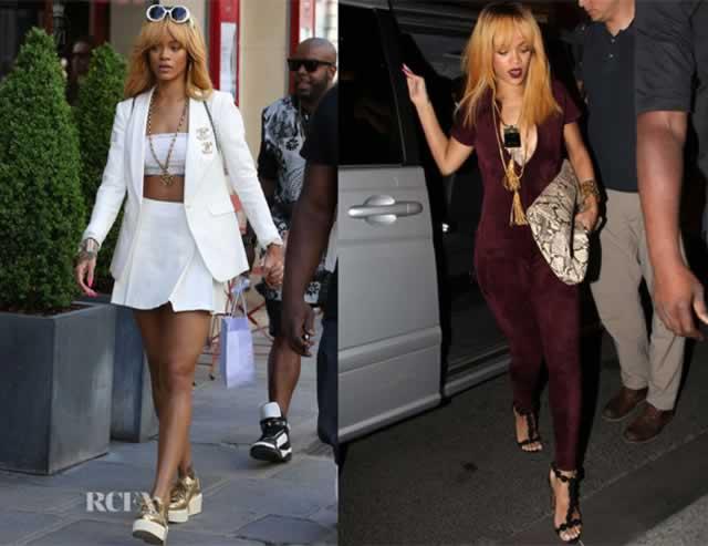 look parigino di Rihanna