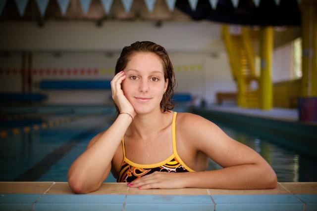 Alice Mizzau prima dei mondiali di nuoto a Barcellona