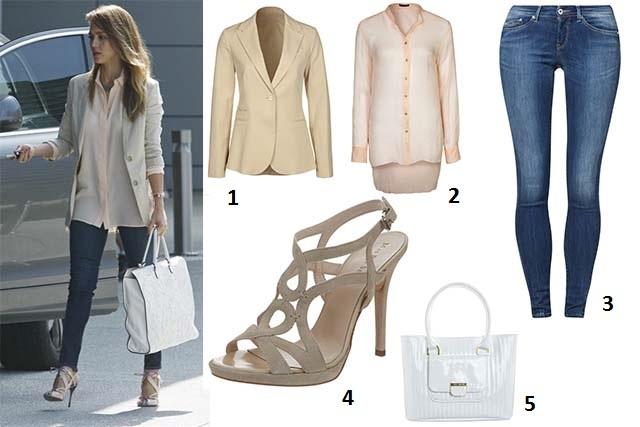 Outfit Ufficio Elegante : Look casual ed elegante per jessica alba ecco i consigli per