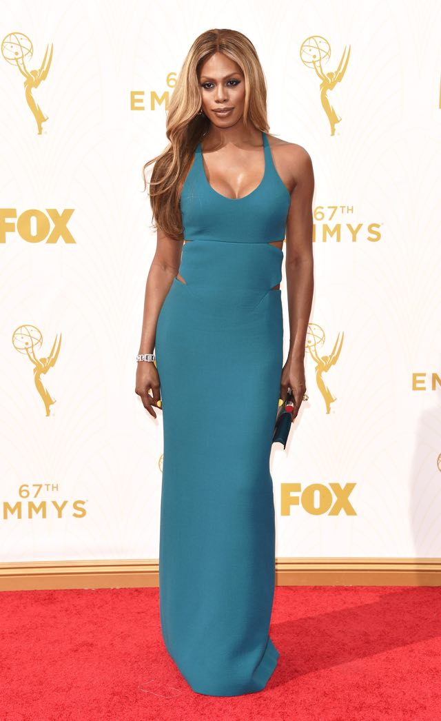 LOS ANGELES, CA - SEPTEMBER 20:  Actress Laverne Cox attends the 67th Annual Primetime Emmy Awards at Microsoft Theater on September 20, 2015 in Los Angeles, California.  (Photo by John Shearer/WireImage)