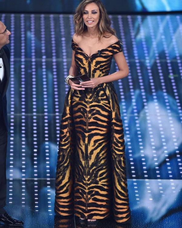 Madalina Ghenea abiti prima serata Festival di Sanremo ...