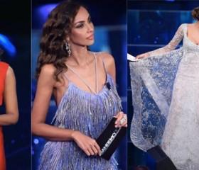 41fbe20cf1ae Festival di Sanremo 2016 quarta serata  abiti di Madalina Ghenea firmati  Armani
