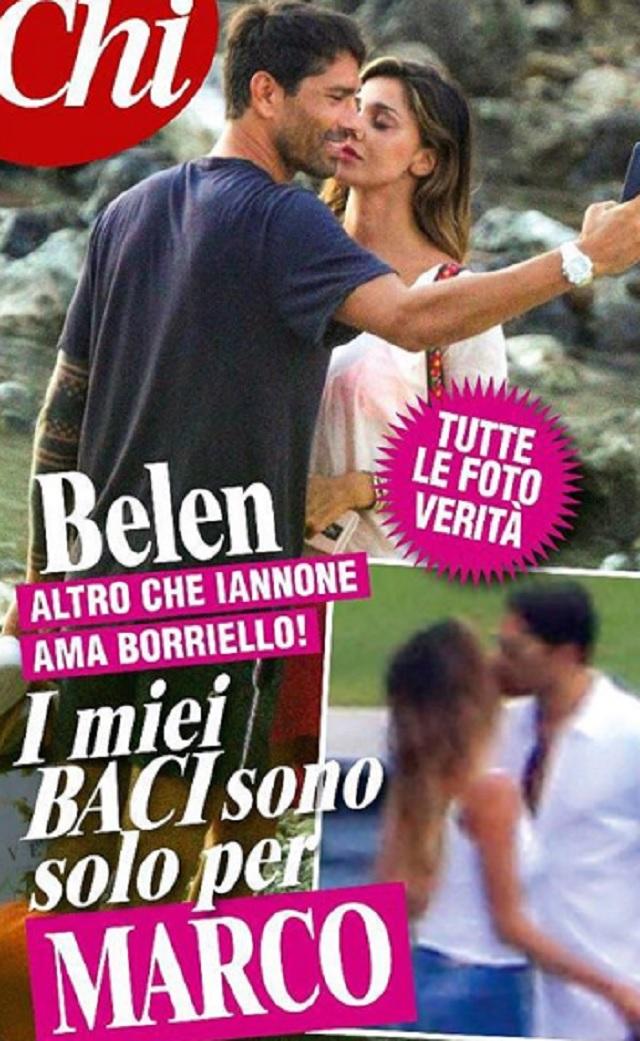 Belen e Borriello è ufficiale c'è il bacio. La foto