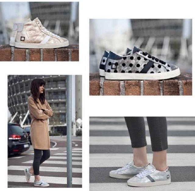 Materiali ricercati per D.A.T.E. sneakers donna autunno/inverno 16/17