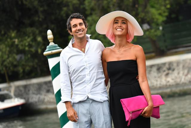 VENICE, ITALY - SEPTEMBER 06: Caterina Balivo and Guido Maria Brera are seen during the 73rd Venice Film Festival on September 6, 2016 in Venice, Italy. (Photo by Jacopo Raule/GC Images)