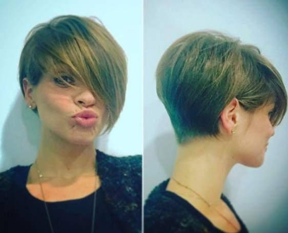 Il taglio dei capelli di alessandra amoroso
