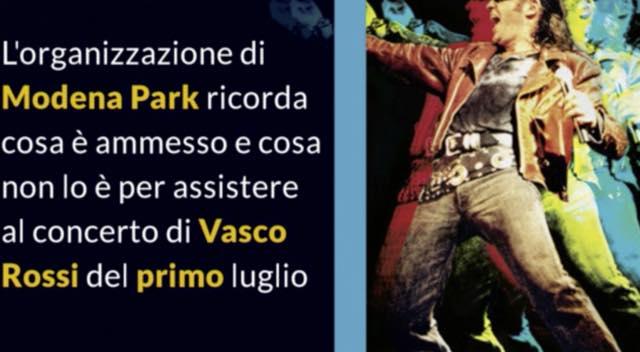 Vasco Rossi Cosa Si Può Portare Al Concerto Di Modena Del 1 Luglio Moda Donna Spettacolo Gossip E Bellezza Leichic It