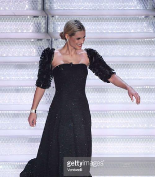 Michelle Hunziler Sanremo 2018 serata finale i gioielli e diamanti indossati