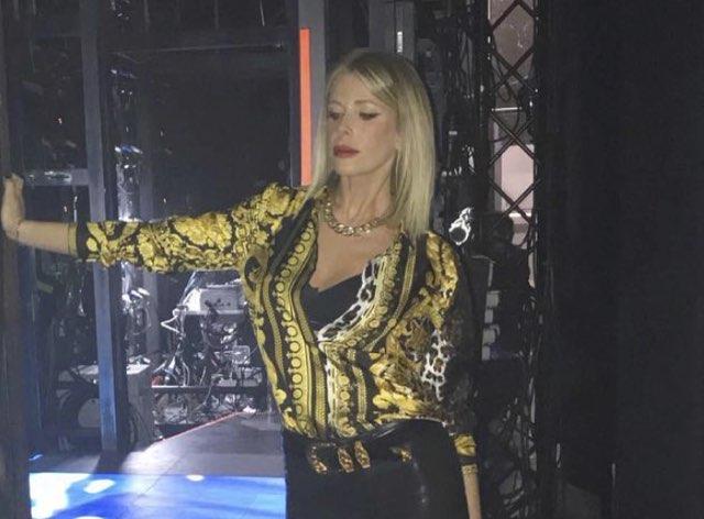 Alessia Marcuzzi all'Isola indossa lo stesso abito di Ivana del Grande Fratello Vip
