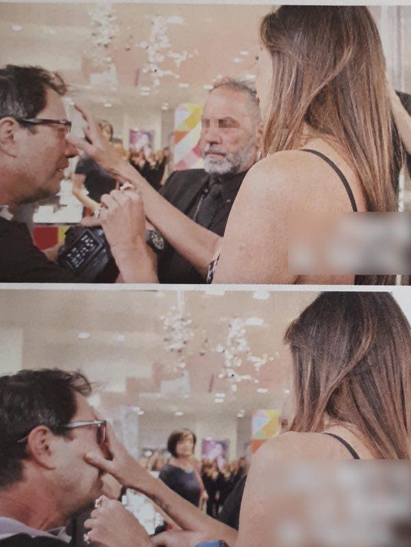 Belen Rodriguez litiga con un paparazzo e gli strappa via gli occhiali VIDEO