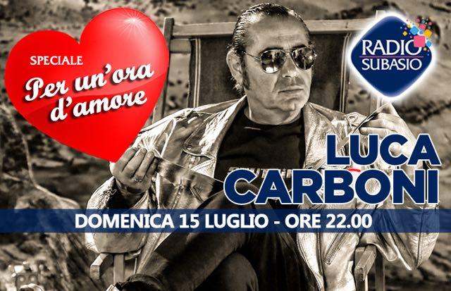 Luca Carboni e la sua musica a Speciale per un'ora d'amore