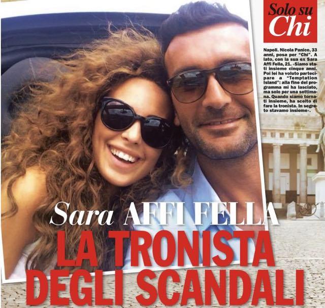 "Nicola Panico intervista su CHI:""Ho incontrato Sara"""