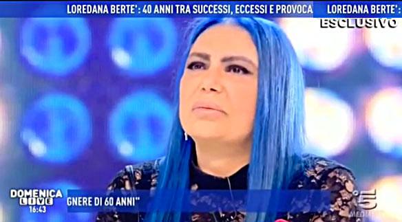 Loredana Bertè a Domenica Live si racconta da Barbara D'Urso