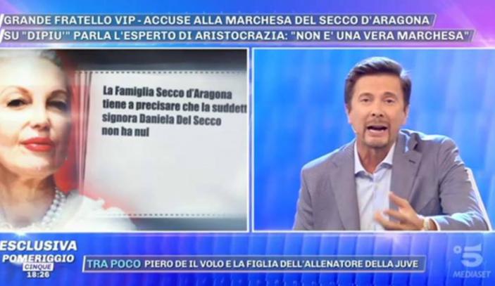 """Forte lite tra Signoretti e la Marchesa D'Aragona a Domenica Live:""""Vergognati tu!"""""""