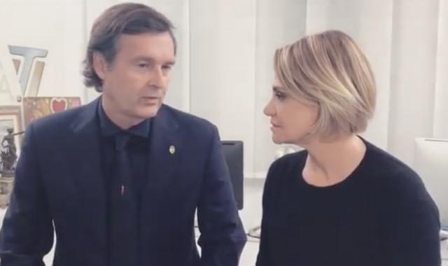 Addio social tra Simona Ventura e Gerò ecco il video con bacio finale