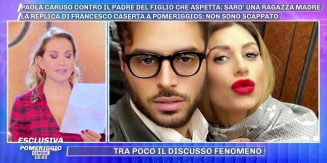 Paola Caruso incinta la lettera dell'ex fidanzato Francesco a Pomeriggio 5