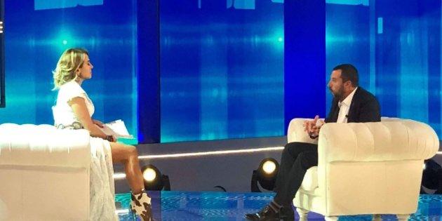 Matteo Salvini a Pomeriggio 5 l'intervista di Barbara D'Urso