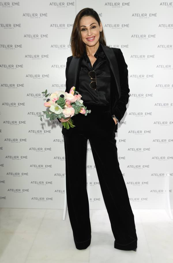 Anna Tatangelo a Sanremo all'esclusivo cocktail Atelier Emé
