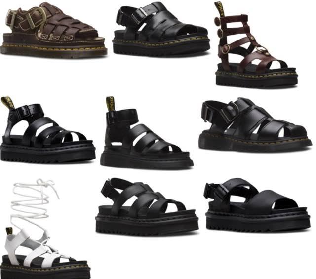 La collezione di sandali Dr. Martens per una donna di tendenza