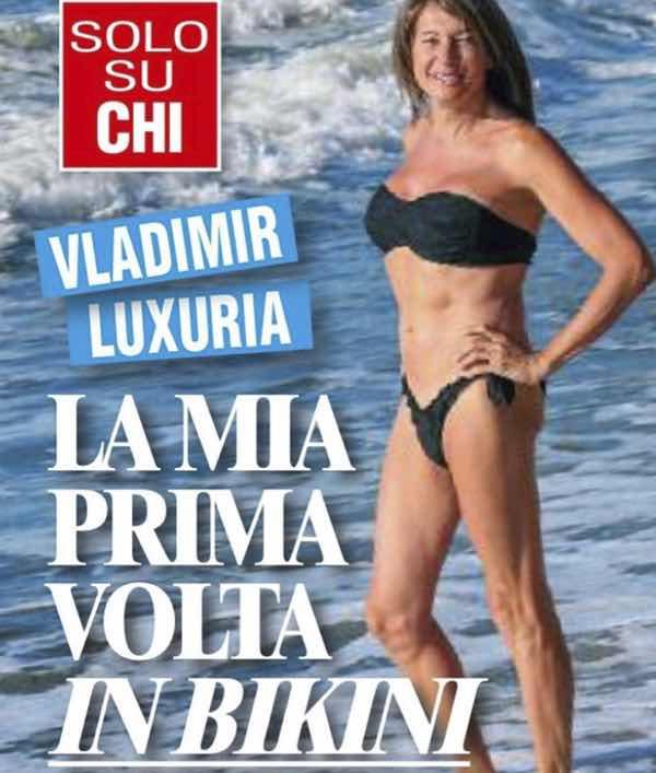 Vladimir Luxuria per la prima volta in bikini si vede qualcosa la sotto?