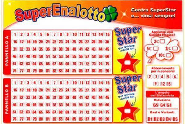 Estrazione superenalotto martedi 23 luglio numeri vincenti e jackpot da 190 milioni