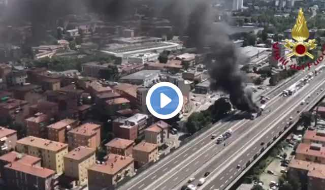 Scontro Tir a Bologna incidente grave fuoco e fiamme morto autista