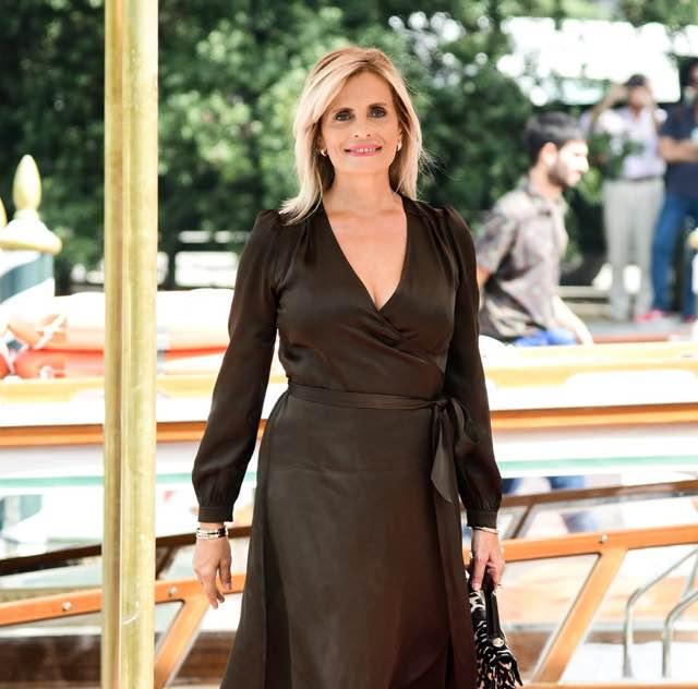 Festival del cinema di Venezia Isabella Ferrari look e abito al Lido