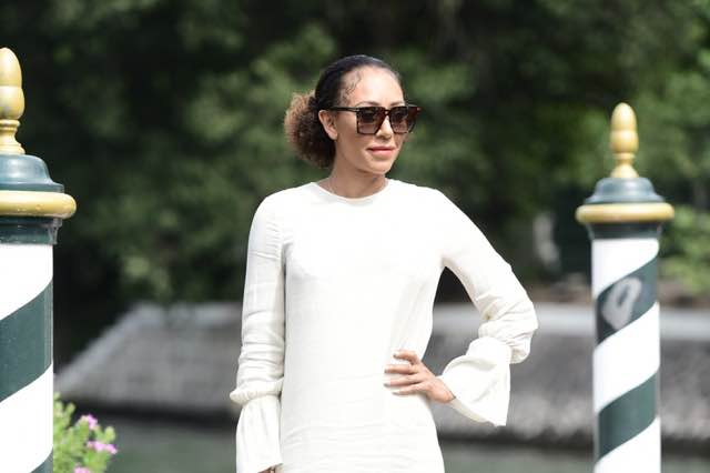 Mel B delle Spice Girls al Festival del cinema di Venezia look e abito