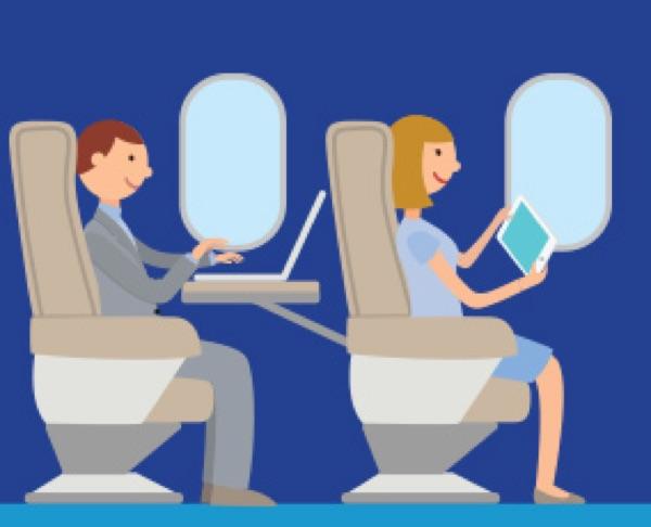 WiFi in aereo come connettersi prezzo compagnie offrono la connessione
